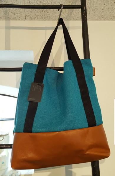 blå taske no3 design