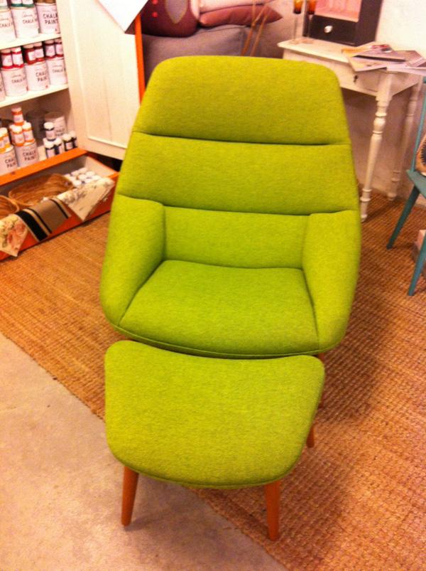 grøn-lænestol