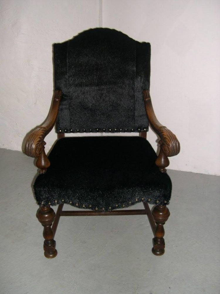 antik stol ombetrækning