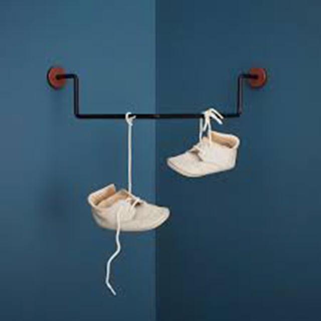 Knagerække med sko